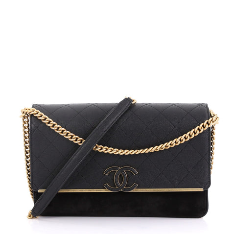 14b38e16f95ed4 Chanel Lady Coco Flap Bag Quilted Caviar and Suede Medium 4115623 – Rebag