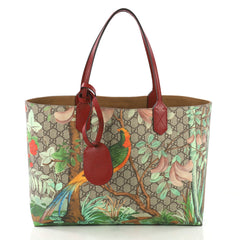 Gucci Shopping Tote Tian Print GG Coated Canvas Medium 4115649