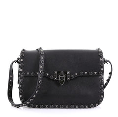 Valentino Rolling Rockstud Crossbody Bag Leather with 411741