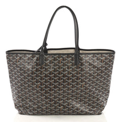 Goyard St. Louis Tote Coated Canvas PM Black 411831