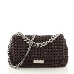 Stella McCartney Bex Shoulder Bag Woven Faux Leather Small 412441