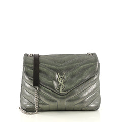 Saint Laurent LouLou Shoulder Bag Matelasse Chevron Leather 4125431