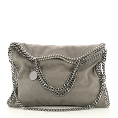 Stella McCartney Falabella Fold Over Bag Shaggy Deer Gray 4125445