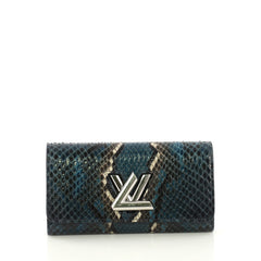 Louis Vuitton Twist Wallet Python Blue 4125452