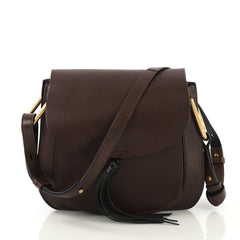 Chloe Hudson Handbag Leather Medium Brown 412622
