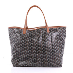 Goyard St. Louis Tote Coated Canvas GM Black 412651