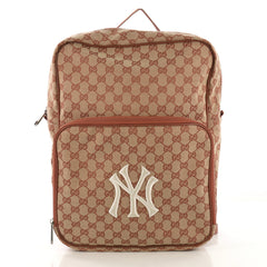 Gucci MLB Front Pocket Backpack GG Canvas With Applique 41277104