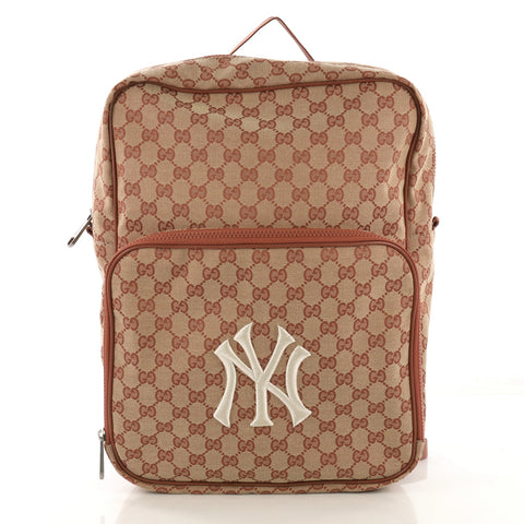 23920bd1e Gucci MLB Front Pocket Backpack GG Canvas With Applique 41277104 – Rebag