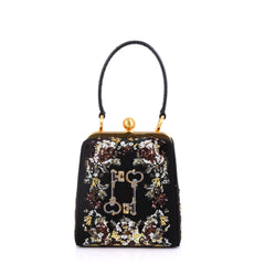 Dolce & Gabbana Agata Handbag Embroidered Fabric with 4127733