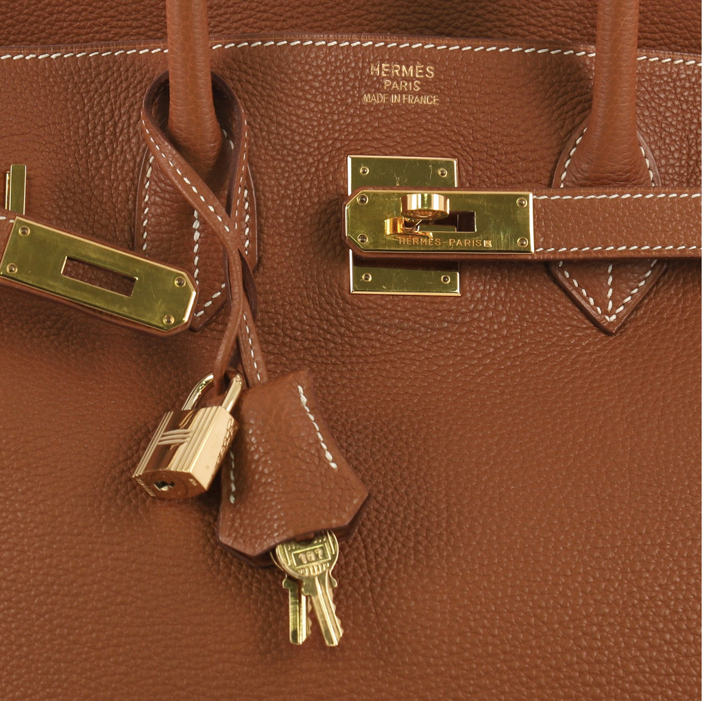a2f2a810575f Hermes Birkin Handbag Brown Togo with Gold Hardware 35 Brown 412773 ...