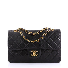 Chanel Vintage Classic Double Flap Bag Quilted Lambskin 4127743