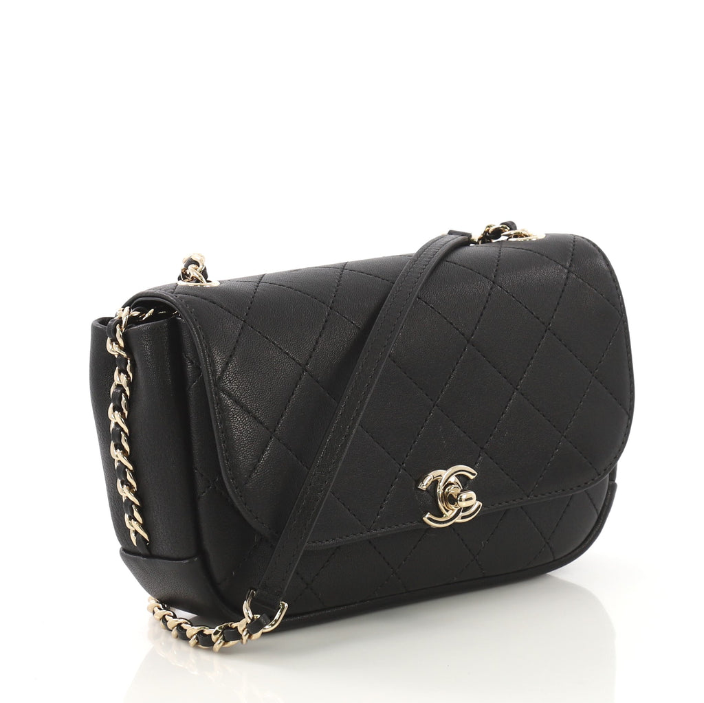 2e48e61c7e78 Chanel Casual Trip Flap Bag Quilted Lambskin Small Black 4127763 – Rebag