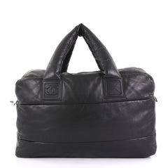 Chanel Model: Coco Cocoon Bowling Bag Quilted Lambskin Large Black 41277/64