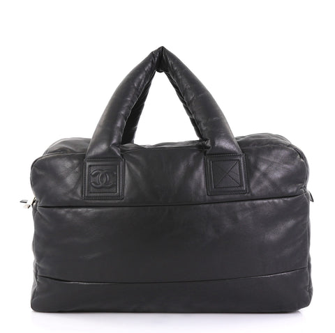 db55928d2ad1 Chanel Coco Cocoon Bowling Bag Quilted Lambskin Large Black 4127764 – Rebag