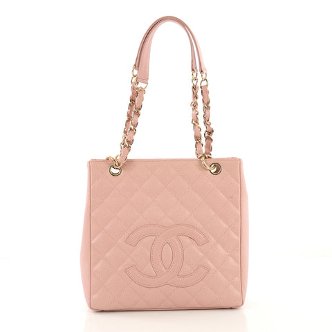 ba22b17ddd90 Chanel Petite Shopping Tote Quilted Caviar Pink 4127765 – Rebag