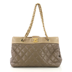 Soft Elegance Tote Quilted Distressed Calfskin Medium