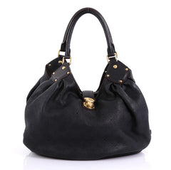 Louis Vuitton L Hobo Mahina Leather Black 4127789