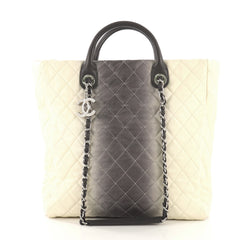 Chanel CC Charm Shopping Tote Quilted Ombre Caviar Medium 412901