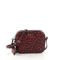 Saint Laurent Camera Bag Printed Leather Small Red 4129919