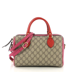 Gucci Convertible Boston Bag GG Coated Canvas and Leather neutral 412999