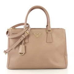 Prada Double Zip Lux Tote Saffiano Leather Small - Rebag