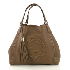 Gucci Soho Shoulder Bag Leather Medium - Designer Handbag - Rebag