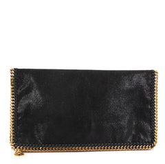 Stella McCartney Falabella Flap Clutch Shaggy Deer Black 413263