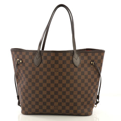 Louis Vuitton Neverfull NM Tote Damier MM Brown 4132901