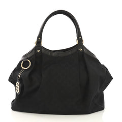 Gucci Sukey Tote GG Canvas Large Black 413301