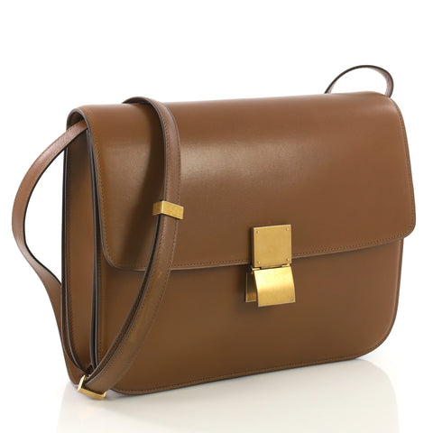 pretty cool outlet on sale authorized site Classic Box Bag Smooth Leather Large