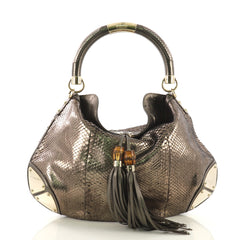 Gucci Indy Hobo Python Large Green 413491