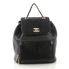 Chanel Business Affinity Backpack Caviar and Python Small 413521