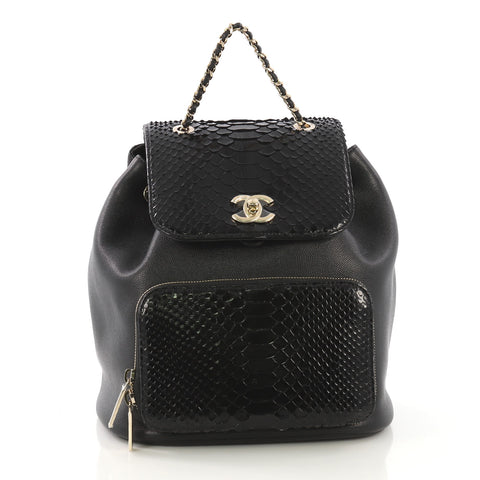 9ae729be8b6f Chanel Business Affinity Backpack Caviar and Python Small 413521 – Rebag