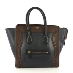 Celine Tricolor Luggage Handbag Leather Mini - Rebag