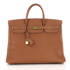Hermes Birkin Handbag Brown Courchevel with Gold Hardware 40 413592