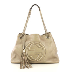Gucci Soho Chain Strap Shoulder Bag Leather Medium - Rebag
