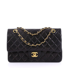 Chanel Vintage Classic Double Flap Bag Quilted Lambskin 413691