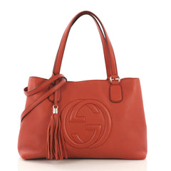 Gucci Soho Working Tote Leather Medium Red 413961