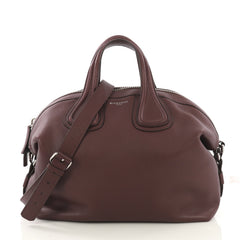 Givenchy Nightingale Satchel Waxed Leather Medium Purple 413971