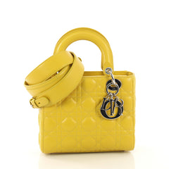 Christian Dior My Lady Dior Bag Cannage Quilt Lambskin yellow 414041