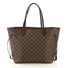 Louis Vuitton Neverfull Tote Damier MM Brown 414071