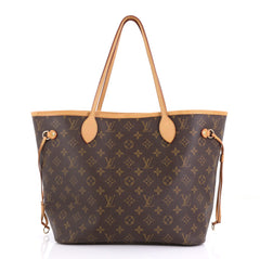 Louis Vuitton Neverfull Tote Monogram Canvas MM Brown 414121