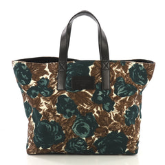 Dolce & Gabbana Miss Lipari Tote Printed Canvas Large Green 414243