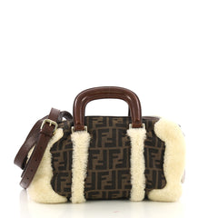 Fendi Vintage Convertible Boston Bag Zucca Canvas and 4143320