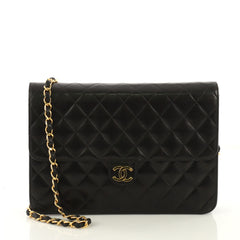 Chanel Vintage Clutch with Chain Quilted Leather Medium 4143330