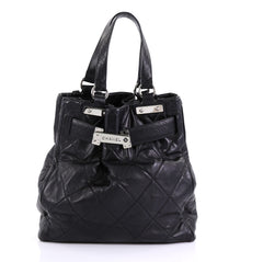 Chanel Paris-Londres Door Latch Tote Quilted Leather Large 414377