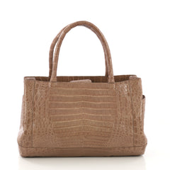 Nancy Gonzalez Tote Crocodile Medium Brown 414601
