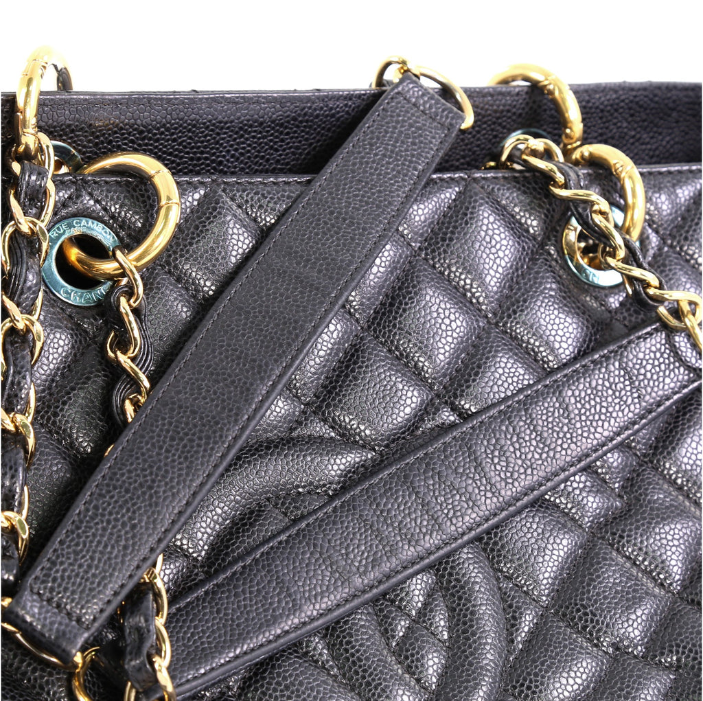 3f95246c314a Chanel Grand Shopping Tote Quilted Caviar XL Black 414651 – Rebag