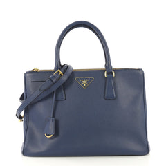 Prada Double Zip Lux Tote Saffiano Leather Medium - Rebag