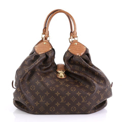Louis Vuitton XL Hobo Monogram Canvas and Alligator Brown 414751